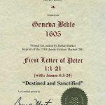 Geneva - 1605 - 1 PETER 1-21