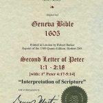 Geneva - 1605 - 2 PETER 1:1-2:18