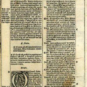 Biblia Sacra – 1531 – LAMENTATIONS 1:1-13