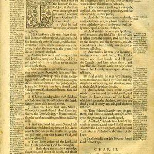 Geneva – 1640 – JOB 1:1-3:25