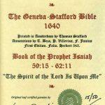 Geneva - 1640 - ISAIAH 59:15-62:11