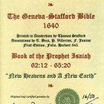 Geneva - 1640 - ISAIAH 62:12-65:20