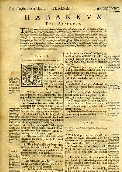 Geneva - 1640 - HABAKKUL 1:1-2:4