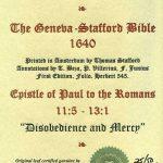 Geneva - 1640 - ROMANS 11:5-13:1