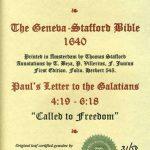 Geneva - 1640 - GALATIANS 4:19-6:18