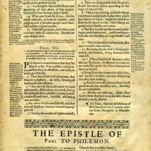 Geneva – 1640 – PHILEMON (entire) + HEBREWS 1:1-6