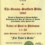 Geneva - 1640 - PHILEMON (entire) + HEBREWS 1:1-6