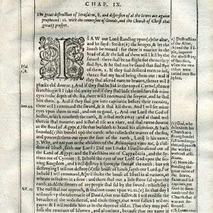 Douay-Rheims OT – 1635 – AMOS 9:1-14