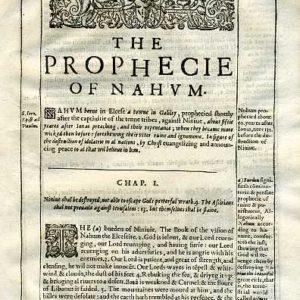 Douay-Rheims OT – 1635 – NAHUM 1:1-2:7