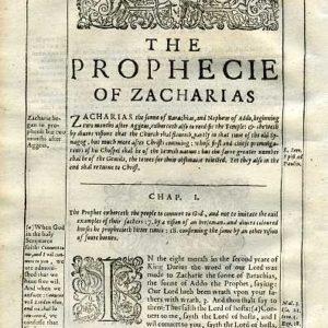 Douay-Rheims OT – 1635 – ZECHARIAH 1:1-3