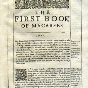Douay-Rheims OT – 1635 – 1 MACCABEES 1:1-30