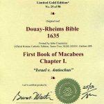 Douay-Rheims OT - 1635 - 1 MACCABEES 1:1-30