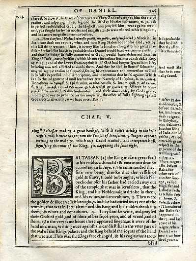 Douay-Rheims OT - 1635 - DANIEL 5:1-20