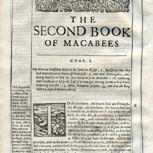Douay-Rheims OT – 1635 – 2 MACCABEES 1:1-7