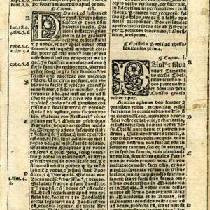 Biblia Sacra – 1531 – 1 THESSALONIANS 1:1-4:1