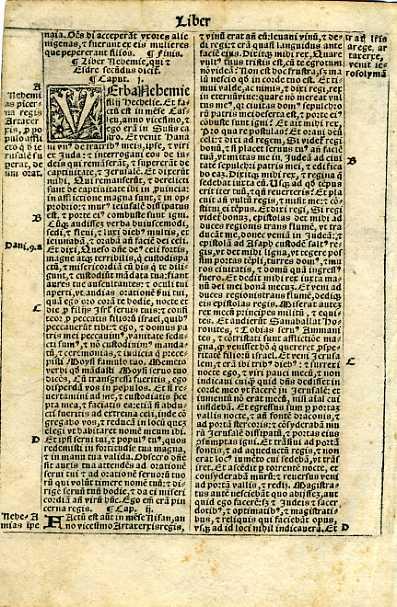 Biblia Sacra - 1531 - NEHEMIAH 1:1-2:16