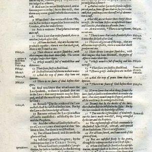 Rheims (Fulke's) – 1601 – ROMANS 3:6-31