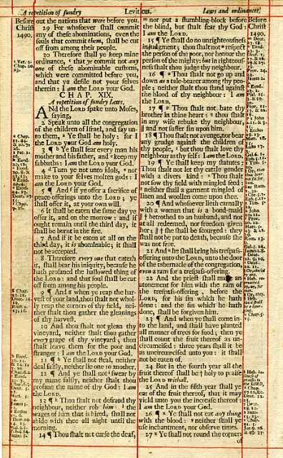 King James - 1703 - LEVITICUS 17:15-19:26