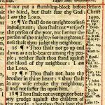 King James - 1703 - LEVITICUS 17:15-19:26