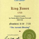King James - 1703 - NUMBERS 6:19-7:55