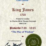 King James - 1703 - PROVERBS 7:23-10:21