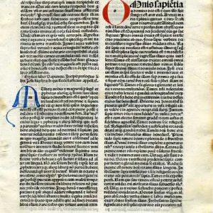 Biblia Sacra – 1484 – WISDOM OF JESUS BEN SIRACH (=Ecclesiasticus) 1:1-4:2