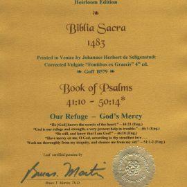 Biblia Sacra - 1483 - PSALMS 41:10-50:14 (Latin) = 42:10-51:14 (Eng)