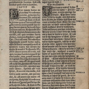 Coverdale Diglot – 1538 – JOHN 2:24-3:22