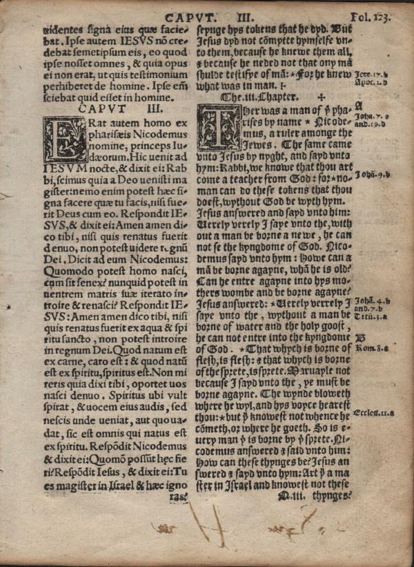 Coverdale Diglot - 1538 - JOHN 2:24-3:22