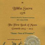 Biblia Sacra - 1578 - GENESIS 20:5-22:3