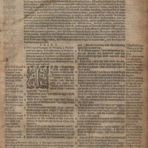 Geneva – 1581 – GENESIS 1:1-2:19