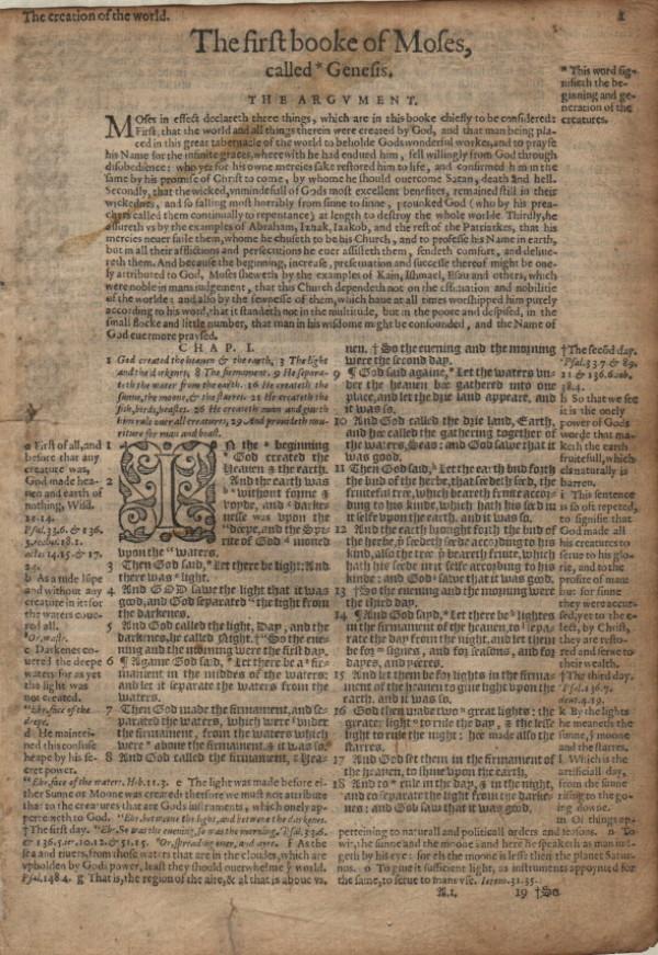 Geneva - 1581 - GENESIS 1:1-2:19