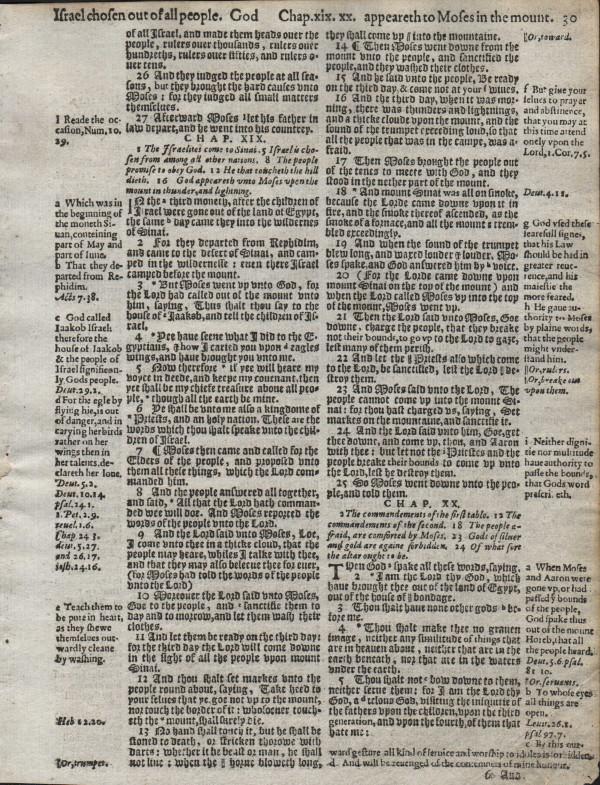 Geneva - 1607 - EXODUS 18:26-21:21