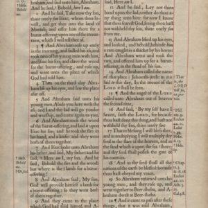 King James – 1660 – GENESIS 22-23