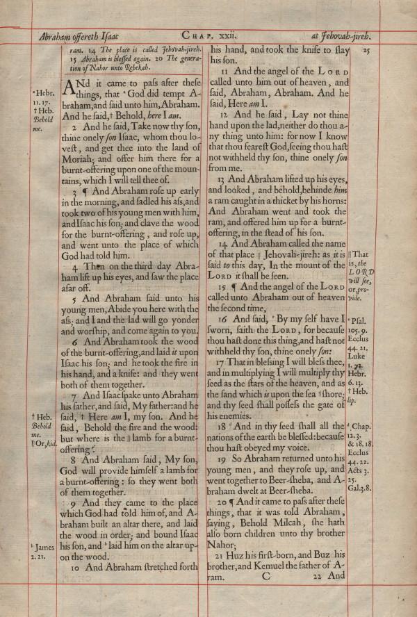 King James - 1660 - GENESIS 22:1-23:20