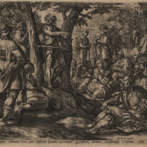 John the Baptist & Baptism of Jesus – 1585 – Set of 2 Plates