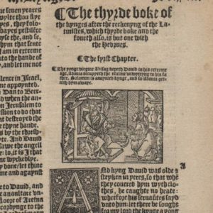 Great Byble – 1540 – 1 Kings 1