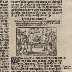 Great Byble – 1540 – 1 Kings 15-17