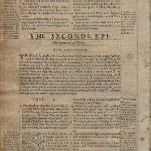Geneva Bible – 1568 – 2 PETER 1 + 1 Peter 3-5