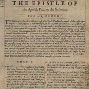 Geneva Bible – 1568 – GALATIANS 1:1-2:20