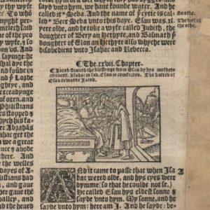 Great Byble – 1540 – Genesis 25-27