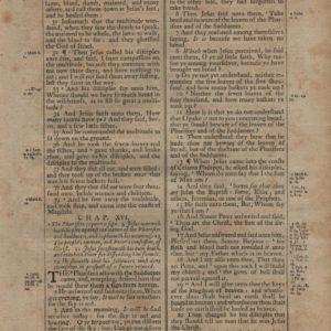 King James (Thomas) – 1791 – MATTHEW 15:30-17:25