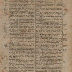 King James (Thomas) – 1791 – MATTHEW 3:10-5:30