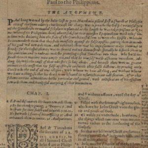 Geneva Bible – 1568 – PHILIPPIANS 1:1-2:28