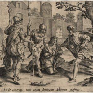 Unmerciful Servant – 1585 – Set of 4 plates