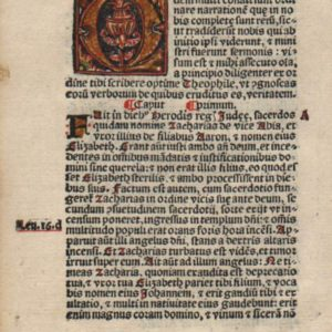 BIBLIA SACRA – 1525 – LUKE 1 Title
