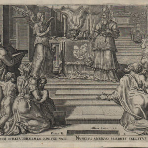 Zacharias Preaches in Temple – 1564