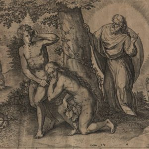 Adam & Eve Clothed – 1585 – Set of 3 Plates