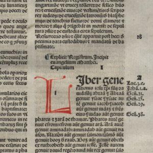 Biblia Sacra – 1484 – MATTHEW 1 Title
