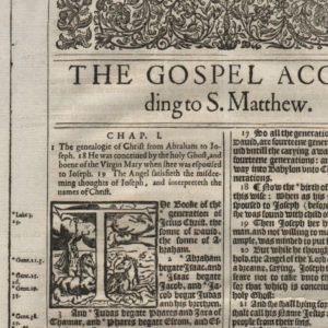 King James – 1613 – MATTHEW 1-3